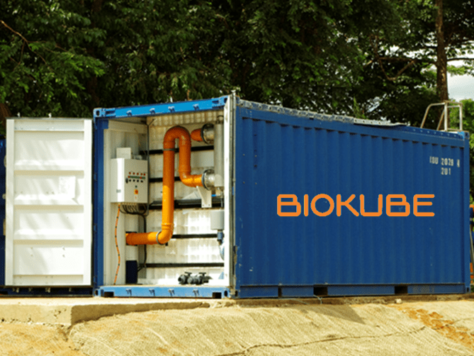 BioContainer containerized wastewater treatment plant installed in Guinea