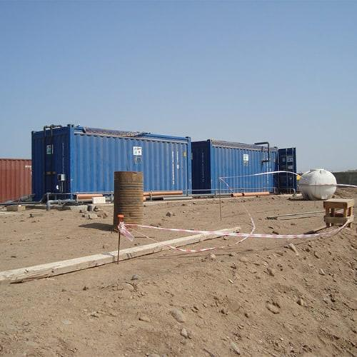 BioReactor for Japanese army in Djibuit. BioKube offers containerized wastewater treatment plants for easy setup and relocation. This solution is ideal for remote locations such as camps and oilrig sites
