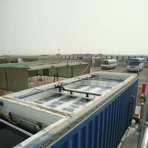 40 foot BioReactor containerised sewage treatment plant installed in Oman