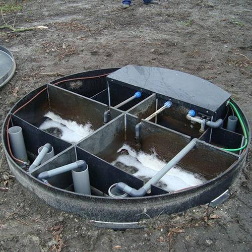 BioKube small sewage treatment plants are typically used in small households, villages or hotel