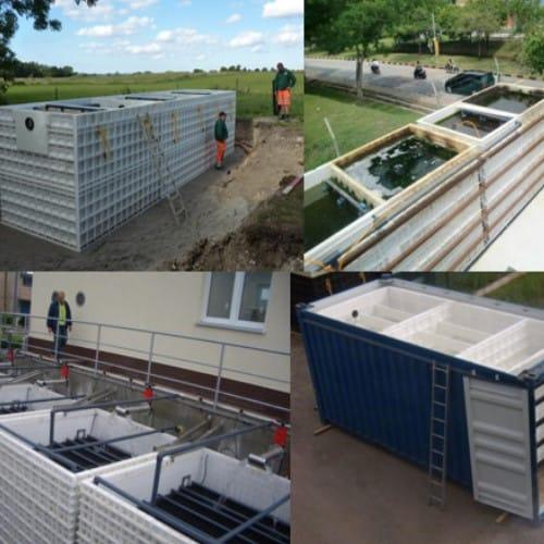 BioKube wastewater systems are scalable in sizes based on the same technology
